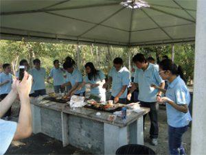 BBQ in Gucun Park, herfst 2014