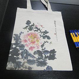 Doekentas proefafdruk van A2 t-shirt printer WER-D4880T